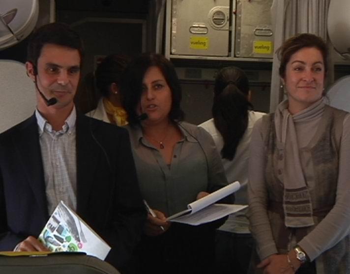 El Gobierno Vasco y Vueling dan la bienvenida a la nueva ruta aérea entre Euskadi y Milán [0:47]