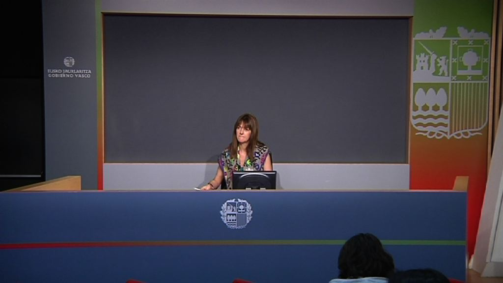 Rueda de prensa de la portavoz del Gobierno Vasco, Idoia Mendia, tras la reunion del Consejo de Gobierno [14:30]