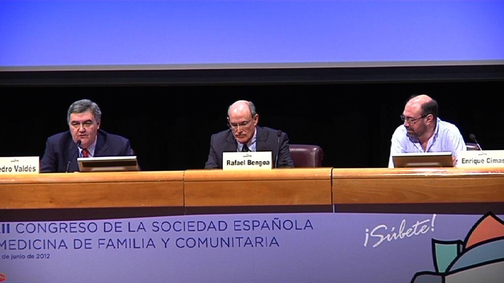 Segunda jornada del XXXII Congreso de la Sociedad Española de Medicina Familiar y Comunitaria (semFYC) en la Sala A1 del Euskalduna, el reto de atención a la cronicidad [75:54]