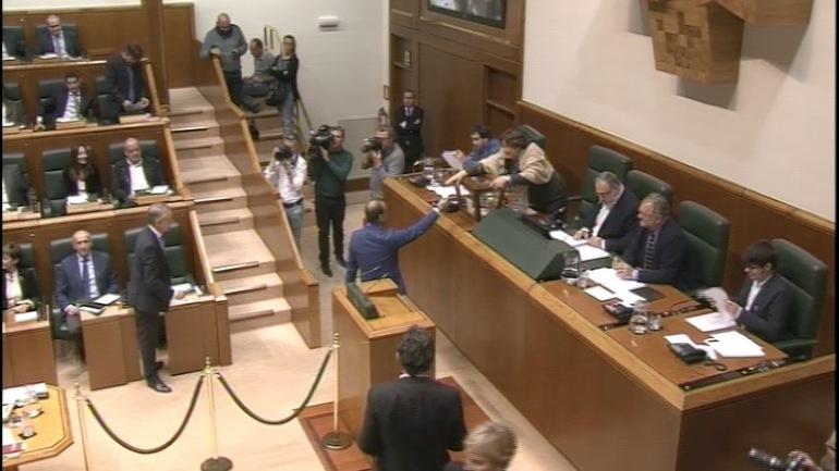 Sesión constitutiva del Parlamento Vasco