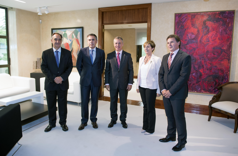 El Lehendakari recibe a responsables del nuevo grupo GAIA-AVIC