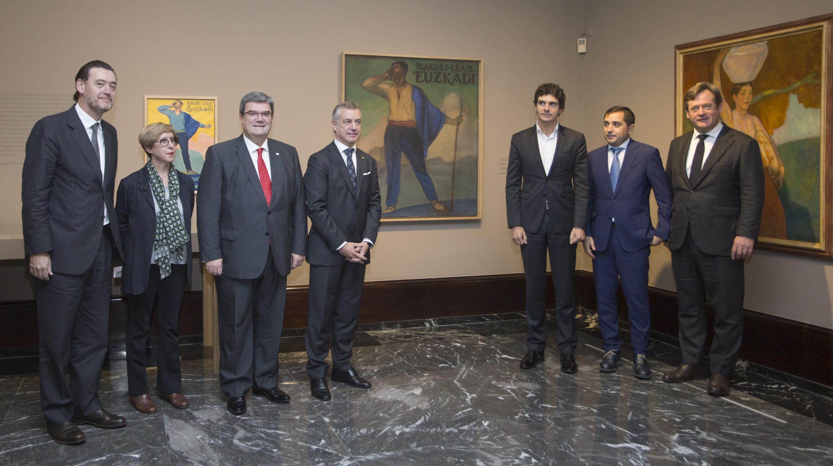 """El Lehendakari ha asistido a la presentación del cuadro Irakurri-Léase """"Euzkadi"""" (1912) en el Museo de Bellas Artes de Bilbao"""