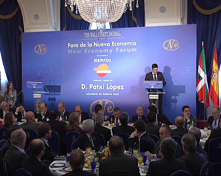 """El Lehendakari asegura que el Gobierno Vasco aparta """"la crispación y el conflicto permanente"""" para """"cambiar el futuro"""" [0:50]"""