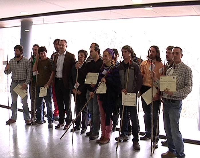 """Pilar Unzalu destaca el papel del pastoreo """"en la conservación del medio ambiente y del paisaje*  [0:32]"""