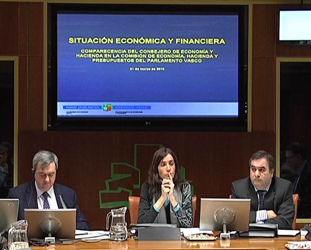 Comparecencia: Consejero de Economía. Últimas actuaciones del Gobierno Vasco en materia financiera y presupuestaria (31-03-2010) [0:31]