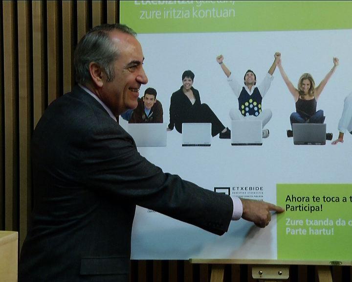 El Gobierno Vasco abre un proceso de participación para que los ciudadanos opinen y hagan propuestas sobre las nuevas políticas de vivienda [1:43]