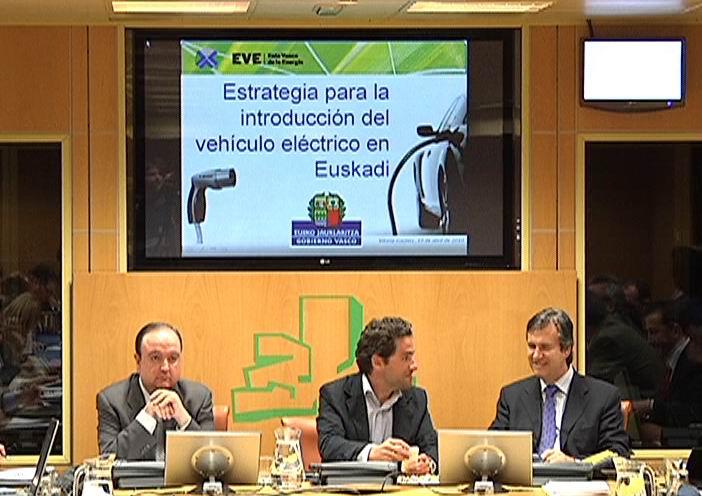 Bernabé Unda expone el papel activo del Gobierno Vasco en el desarrollo del vehículo eléctrico [0:29]