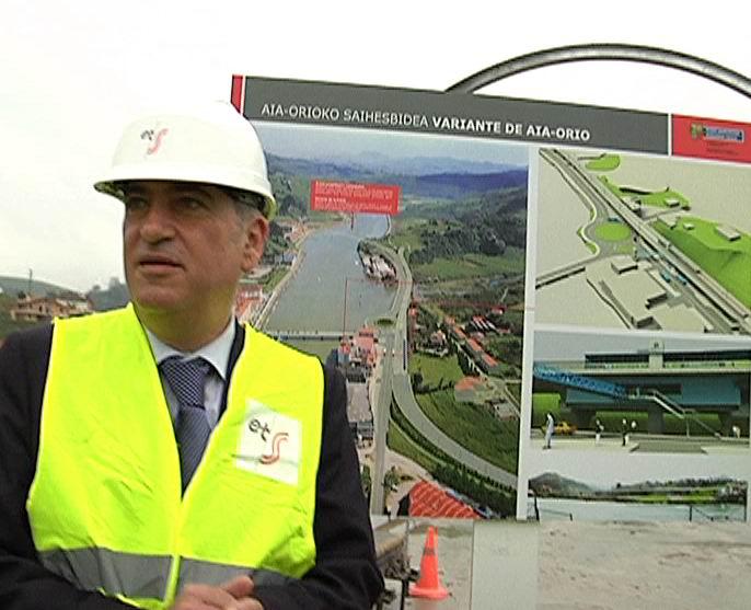 La Variante Ferroviaria de Aia-Orio de la línea Bilbao-Donostia entrará en servicio en primavera de 2011 [1:41]