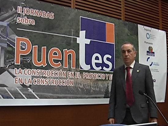 """Iñaki Arriola participa en la inauguración de las """"II Jornadas sobre Puentes. La Construcción en el Proyecto y el Proyecto en la Construcción""""  [0:41]"""