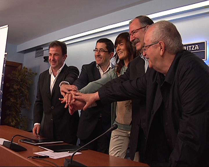 Eusko Jaurlaritzak eta Basque Culinary Center fundazioak hitzarmen bat sinatu dute Euskadiko turismo sustapena bultzatzeko [0:30]