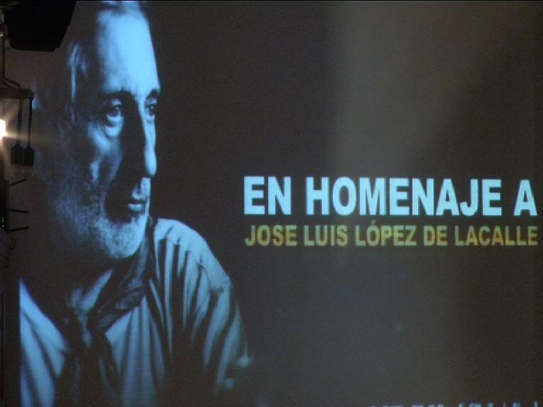 Homenaje al periodista José Luis López de la Calle, asesinado por ETA hace diez años  [1:59]