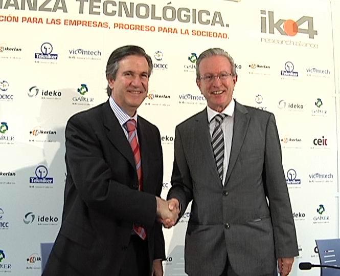 IK4 y el Gobierno Vasco firman un convenio para fomentar la innovación y el desarrollo tecnológico [0:28]