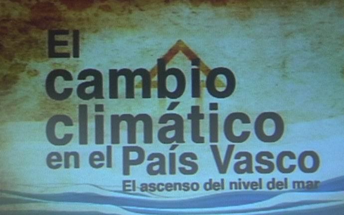"""Presentación del vídeo """"El cambio climático en el País Vasco, el ascenso del nivel del mar"""" [0:49]"""