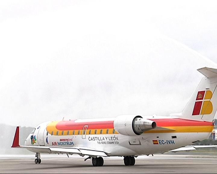 Inauguración del vuelo desde Hondarribi a Bruselas