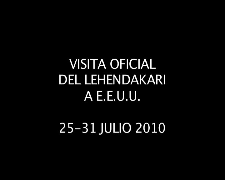 Video resumen del viaje oficial del Lehendakari a E.E.U.U [8:44]