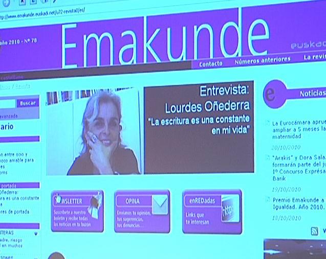 La nueva revista digital Emakunde refuerza la apuesta del instituto por las nuevas tecnologías [0:36]