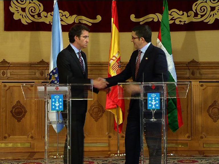 El Lehendakari se reúne con el Presidente de la Xunta de Galicia, Alberto Núñez Feijóo [15:29]