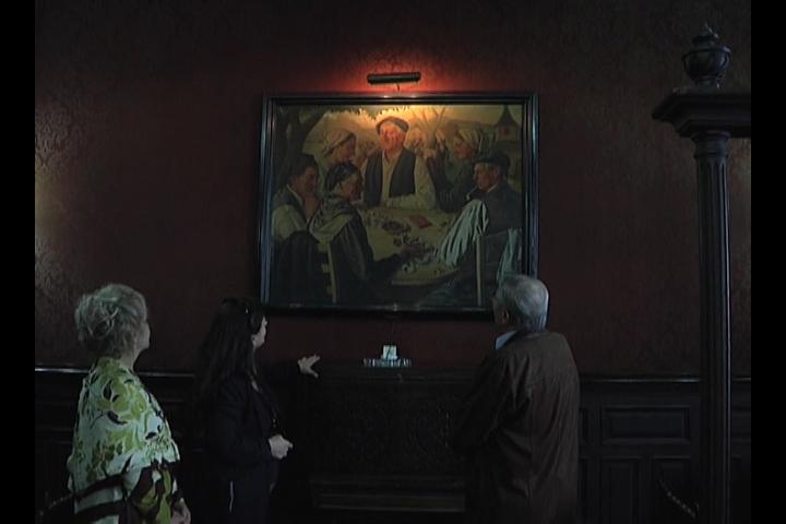 Aizpea Goenaga visita la pinacoteca de las euskal etxeak de Buenos Aires [0:42]
