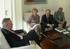 El Embajador Estrella recibe al Director de EITB y a la Delegada del Gobierno Vasco en Argentina