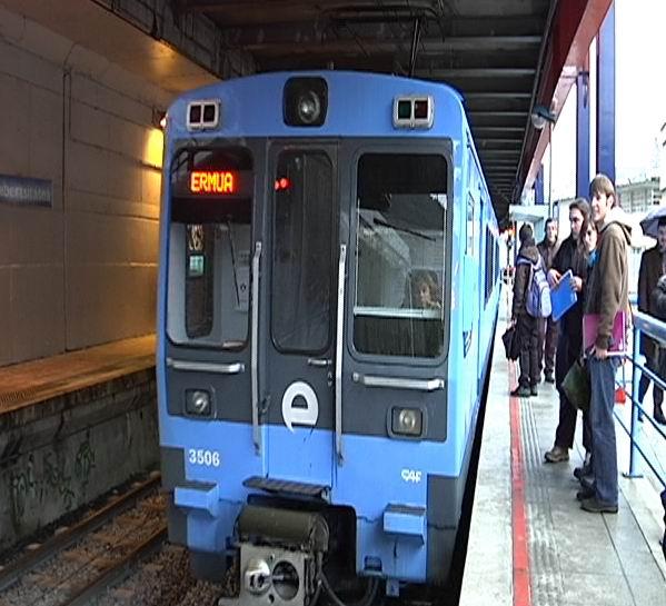 La puesta en marcha del desdoblamiento San Lorentzo-Unibertsitatea mejorará la puntualidad del servicio ferroviario del corredor Ermua-Eibar  [1:17]