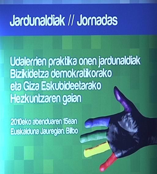 Jornadas de buenas prácticas de los municipios en materia de Educación para la Convivencia democrática y los Derechos Humanos [0:58]