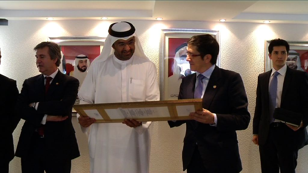 Meeting between the Lehendakari and Sultan Ahmed Al Jaber, CEO of MASDAR [1:46]