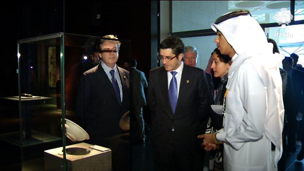 """Euskadi y Qatar crearán una comisión de trabajo para """"concretar"""" los proyectos de colaboración [1:46]"""