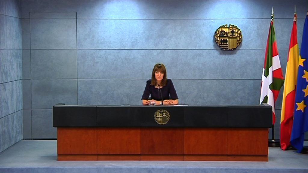 Rueda de prensa de la portavoz del Gobierno Vasco tras el Consejo de Gobierno [34:49]