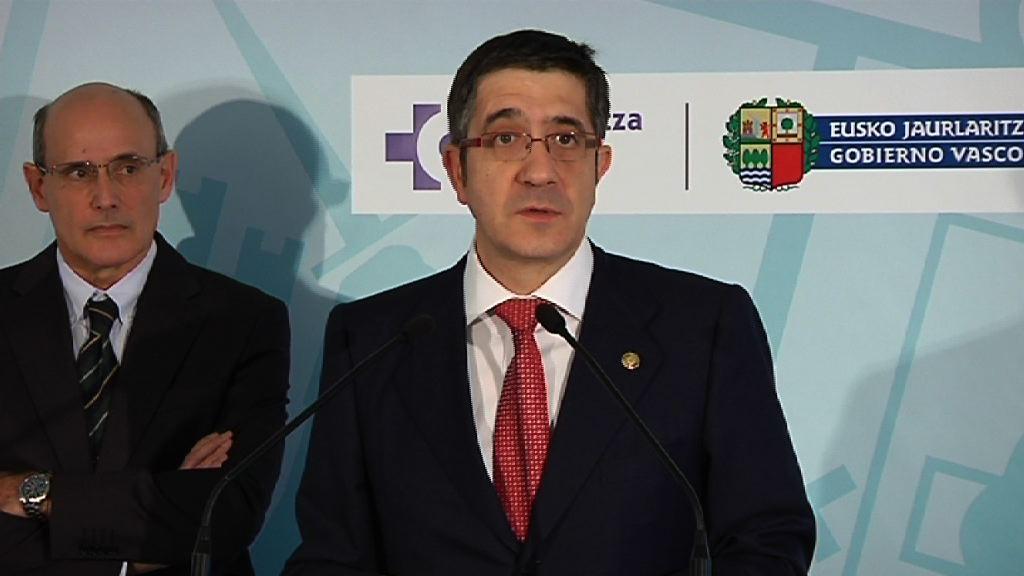 Intervención de el Lehendakari en la inauguración del Centro Vasco de Transfusiones y Tejidos Humanos