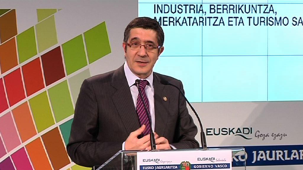 Intervención del Lehendakari en el acto que da inicio a las obras de recuperación y rehabilitación del área industrial Aranguti-Güeñes [8:42]
