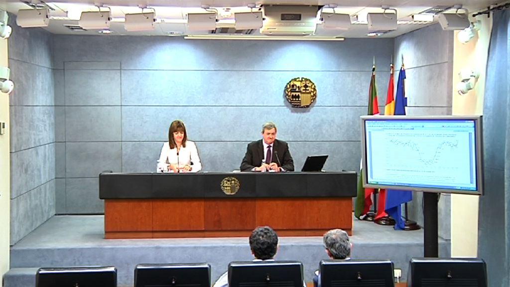 Rueda de prensa de la portavoz del Gobierno Vasco, Idoia Mendia, tras el Consejo de Gobierno [35:58]