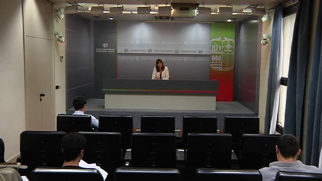 Rueda de prensa de la portavoz del Gobierno Vasco, Idoia Mendia, tras el Consejo de Gobierno [32:08]