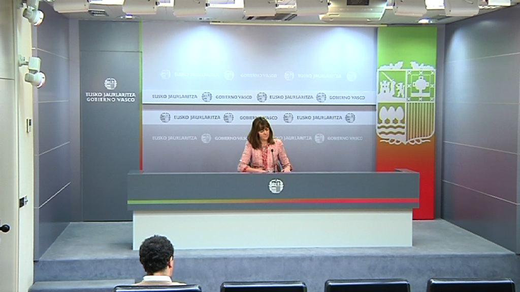 Rueda de prensa de la portavoz del Gobierno Vasco, Idoia Mendia, tras el Consejo de Gobierno [21:32]