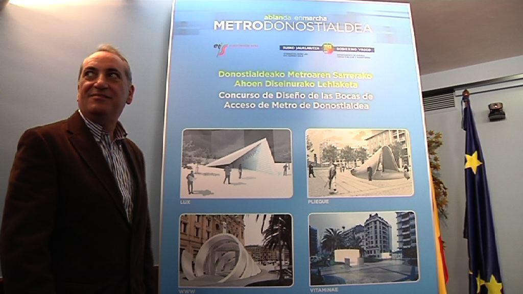 Luz verde a la segunda y definitiva fase del concurso de diseño de las bocas de acceso del Metro de Donostialdea [0:41]