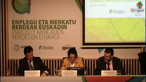 Pilar Unzalu estima que hasta 2020 se generarán 12.000 nuevos empleos verdes. 1ª parte [3:06]