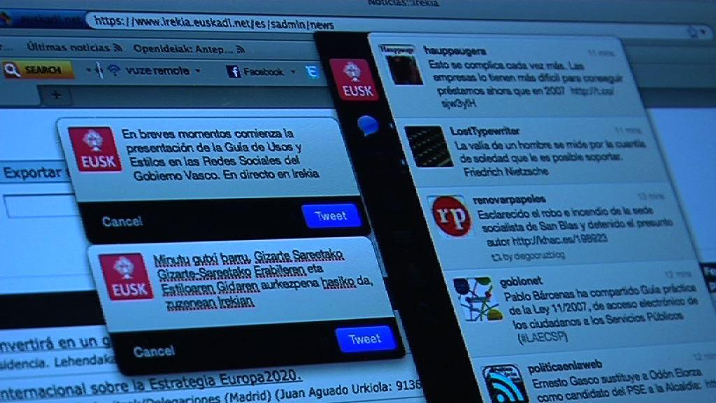 Sale a la luz la Guía de Usos y Estilo en las Redes Sociales del Gobierno Vasco [1:14]