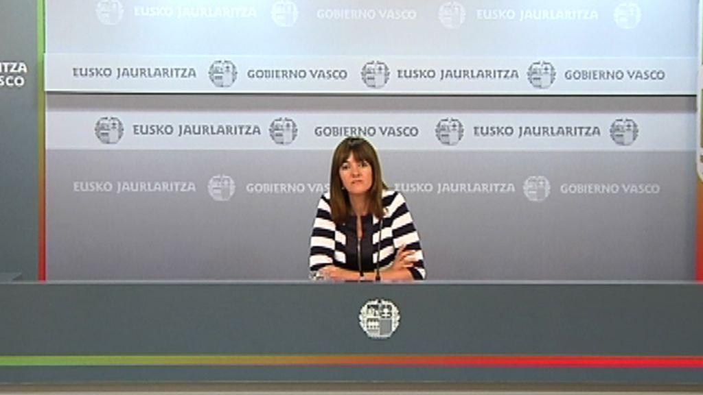 Rueda de prensa de la portavoz del Gobierno, Idoia Mendia, tras el Consejo de Gobierno [28:57]