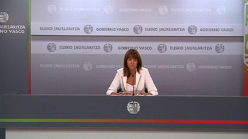 Eusko Jaurlaritzako bozeramaile Idoia Mendiaren  prentsaurrekoa Gobernu Kontseiluaren ondoren (2011/07/19) [27:51]