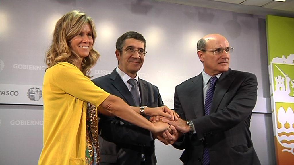 Patxi López lehendakariak eta Cristina Garmendia Zientzia eta Berrikuntza ministroak protokolo bat izenpetuko dute [1:18]
