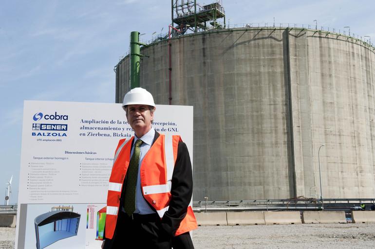 Las obras del tercer tanque de Bahía de Bizkaia Gas generarán 450 empleos en los próximos 36 meses