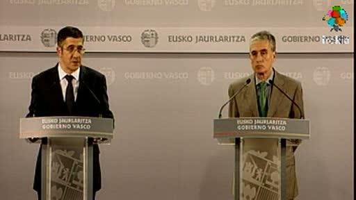 Encuentro del Lehendakari con el Ministro de la Presidencia, Ramón Jauregui  [22:11]
