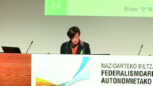 Expertos internacionales analizan en Bilbao los sistemas federalistas [81:58]