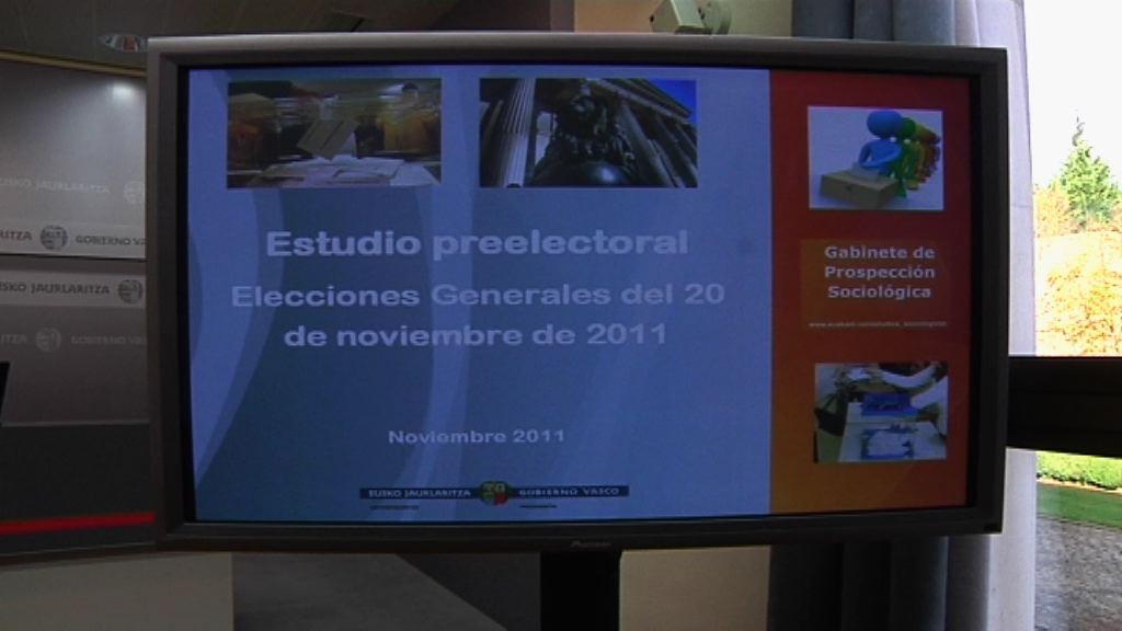 """""""Empate técnico"""" entre las fuerzas mayoritarias de Euskadi para el 20N [1:50]"""