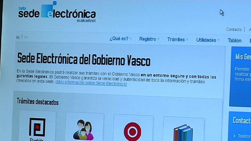 El Gobierno Vasco pone hoy en funcionamiento la sede electrónica de la Administración pública [5:40]