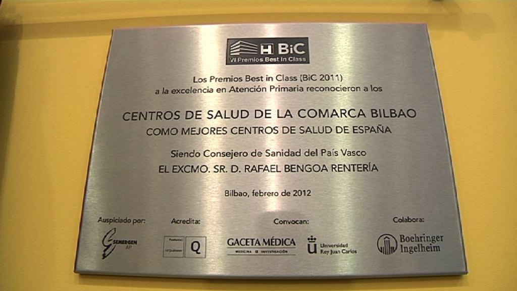 Comarca Bilbao, premio Best in Class de excelencia en la atención al paciente [1:14]