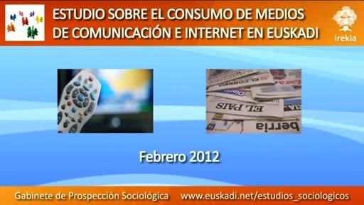 Televisión e internet, medios preferidos para informarse, formarse y entretenerse en Euskadi