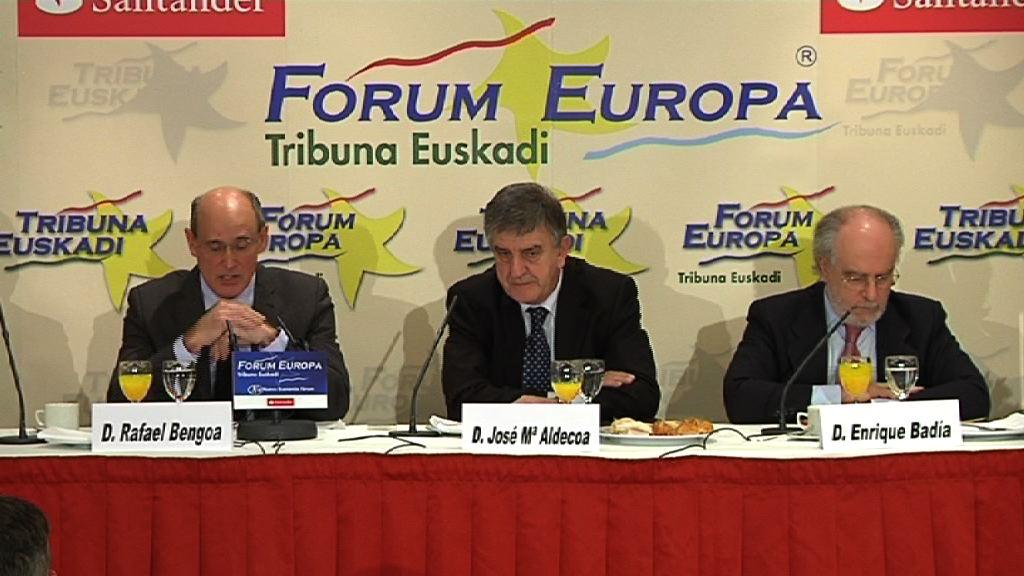 El consejero de Sanidad, Rafael Bengoa, interviene en el Forum Europa [63:58]