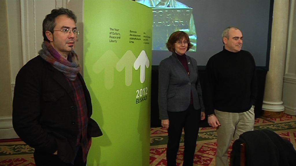"""La Fundación 2012 Fundazioa presenta las líneas generales de los primeros eventos de  """"2012 Euskadi, año de las culturas por la Paz y la Libertad"""" [2:33]"""