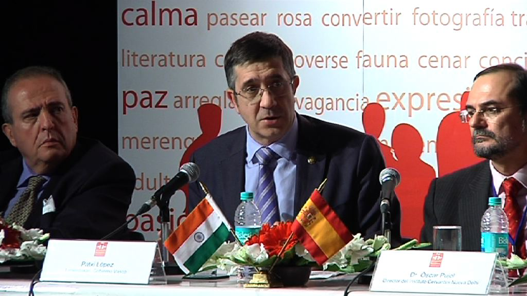 "The Lehendakari explains the ""Basque industrial competitiveness model"" in India  [15:00]"