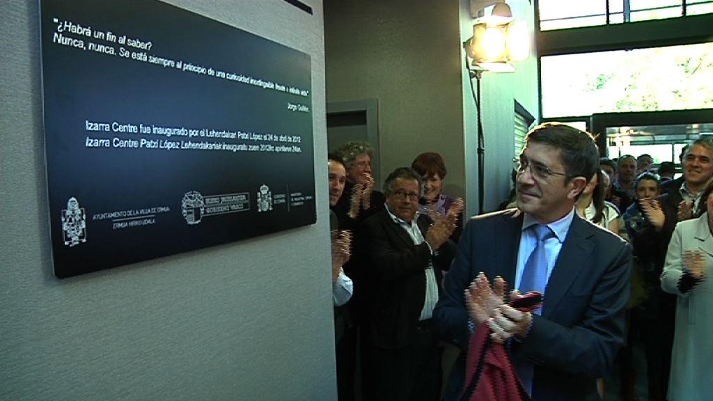 El Lehendakari inaugura el Izarra Centre de Ermua [12:38]